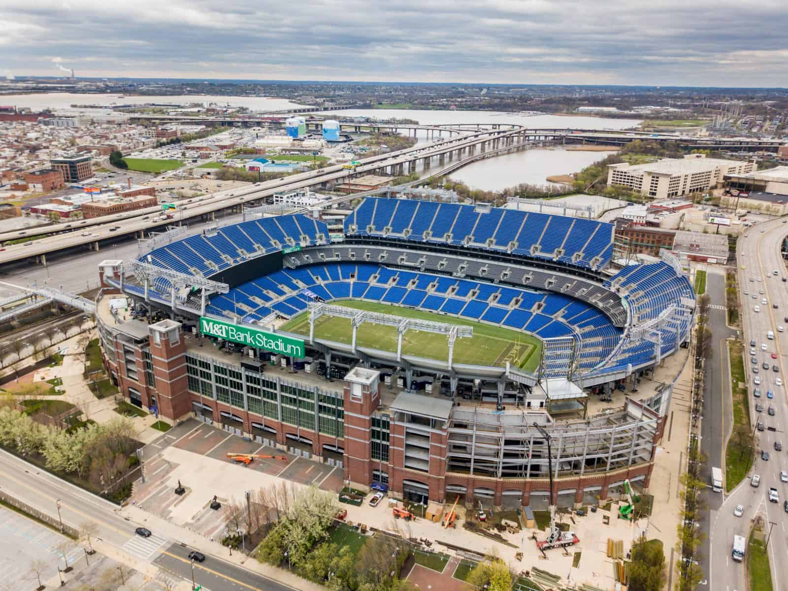 Aerial Drone Photos Of M Amp T Bank Stadium Home Of The
