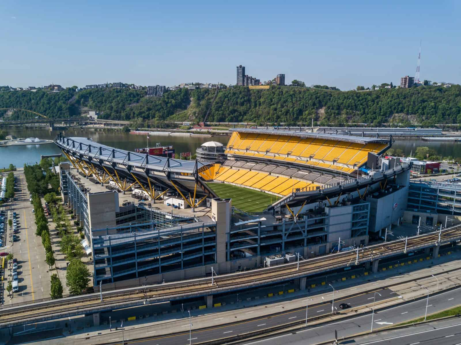 Heinz Field Pittsburgh Pennsylvania drone aerial photo