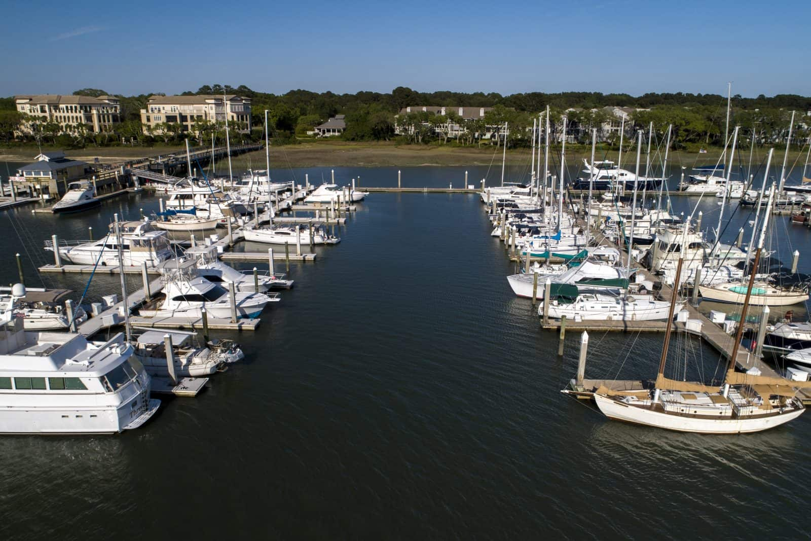 Skull Creek Marina Aerial Photo