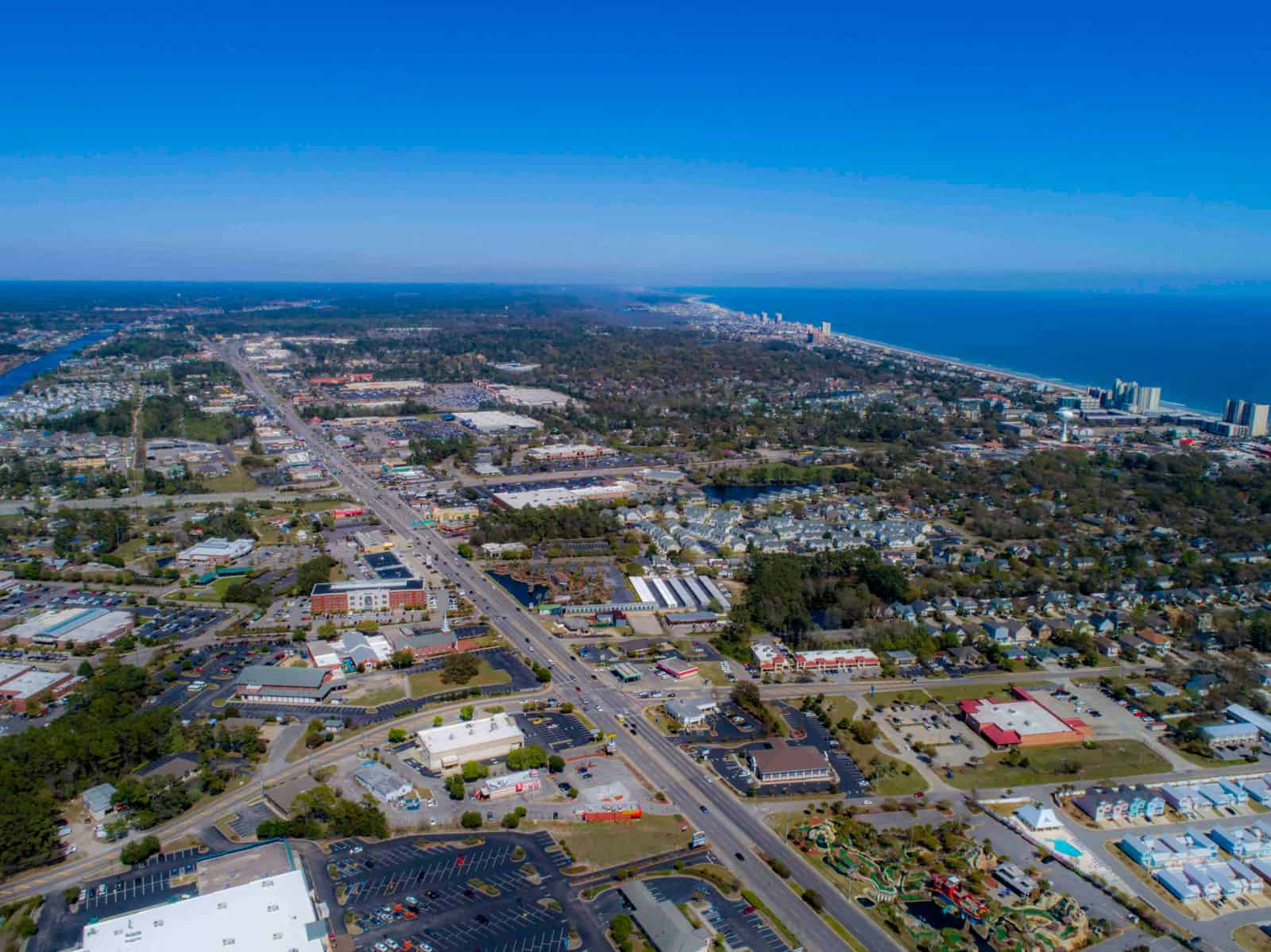 aerial drone photo of South Carolina near ocean