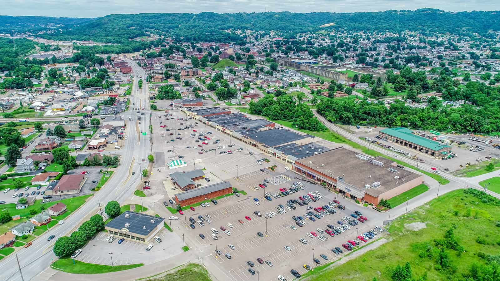 commercial real estate property in West Virginia aerial drone photo