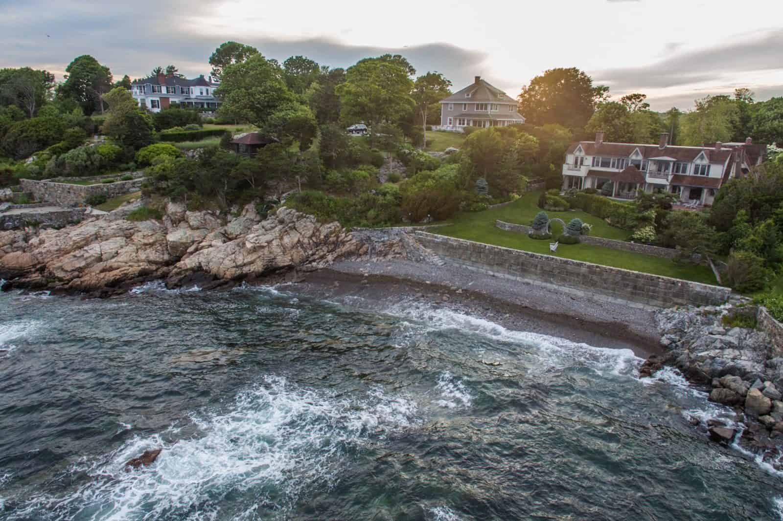 drone photo of residential property in Manchester By The Sea, MA
