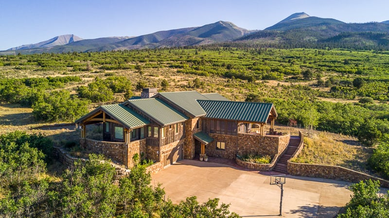 aerial drone photo of house in Cotopaxi, Colorado