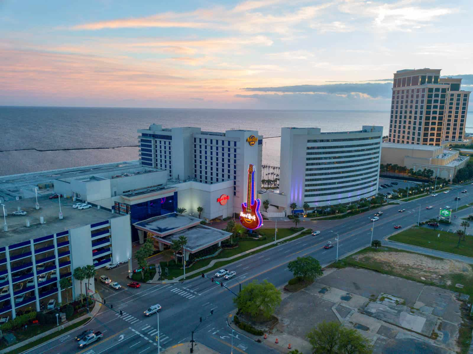 drone photo of commercial real estate property in Biloxi, MS