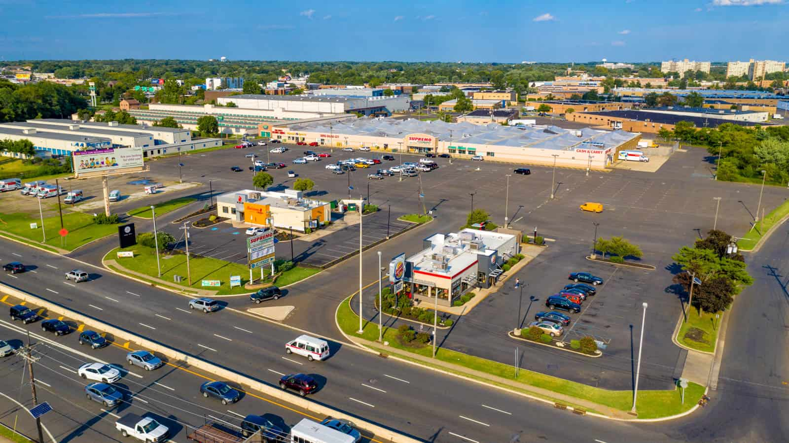 drone photo of commercial real estate property in Pennsauken Township, NJ