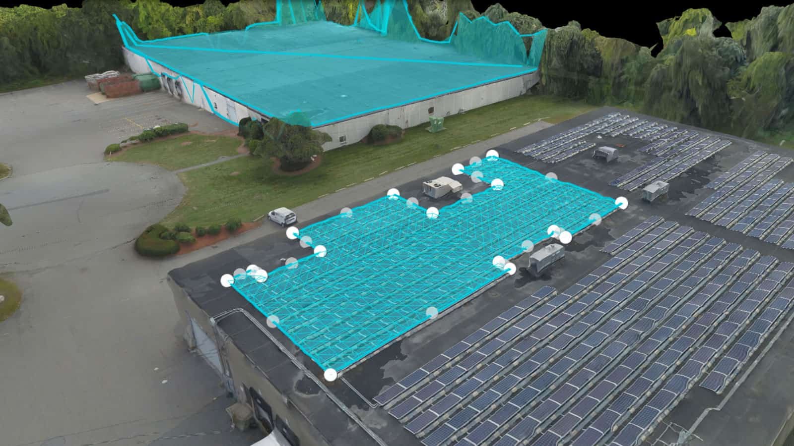drone 3D model of commercial buildings