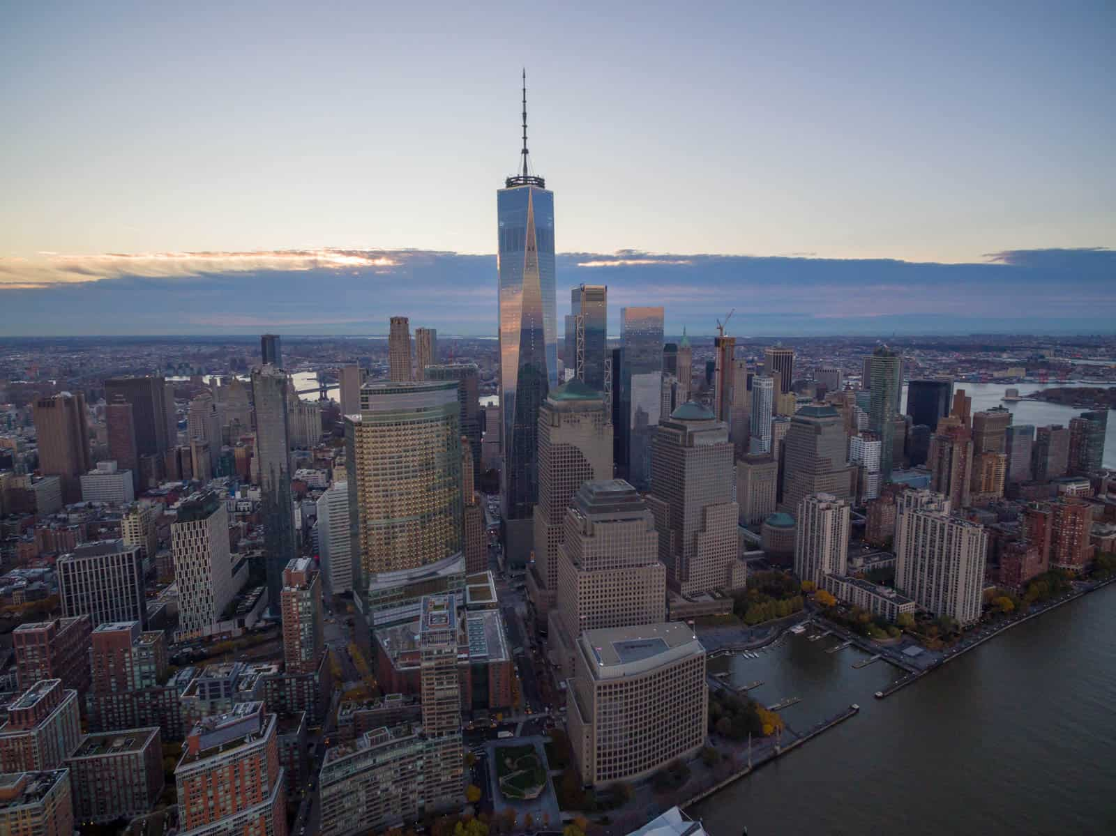 aerial drone photo of New York City