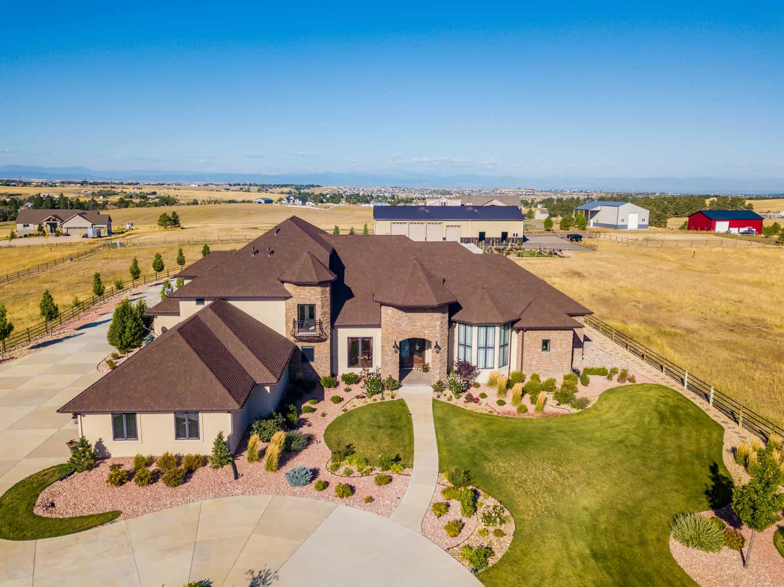 drone photo of residential property in Parker, CO