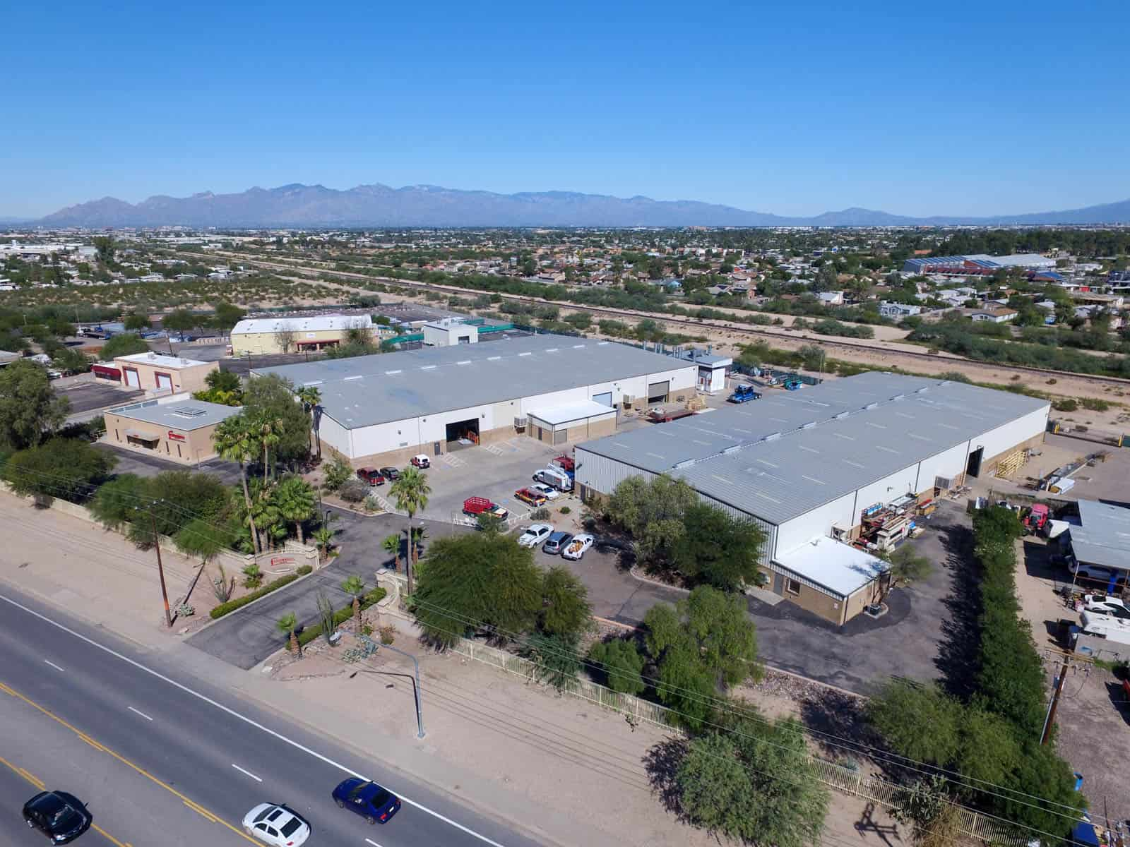 aerial photo of commercial property in Tucson, AZ