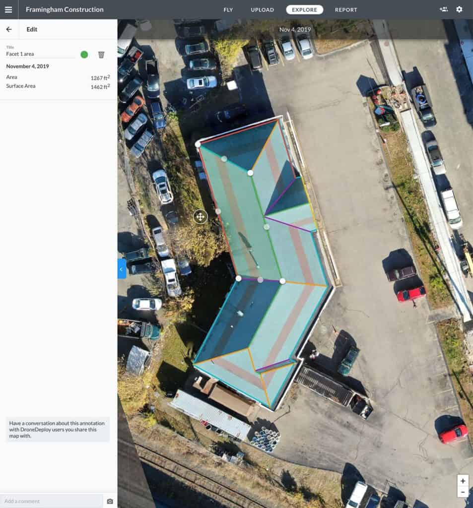 dronedeploy roof measurements