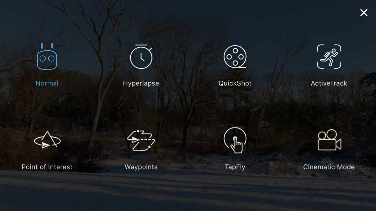 dji go 4 app intelligent flight modes