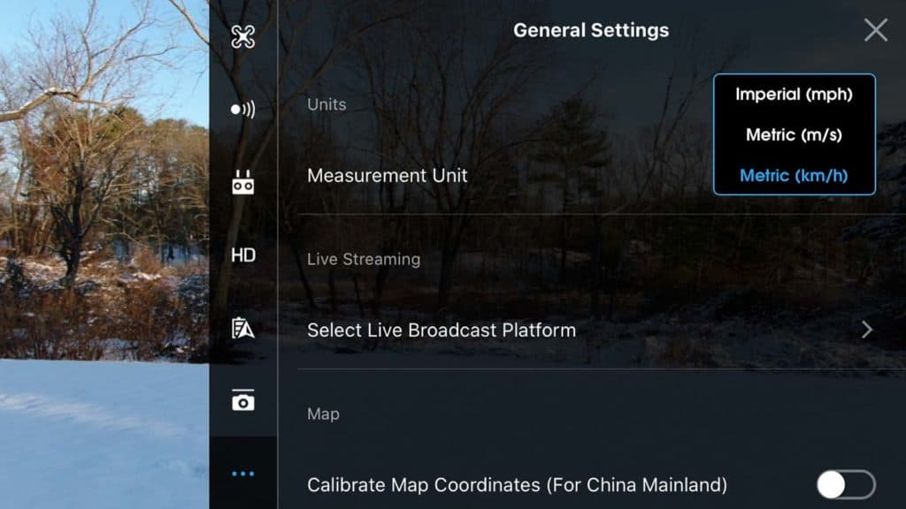 dji go 4 app general settings