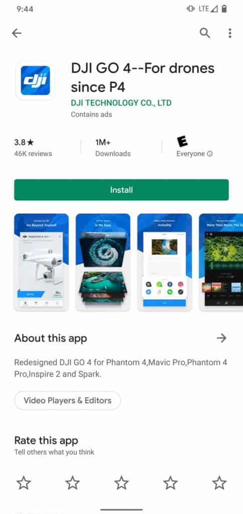 dji go 4 app on Google Play Store