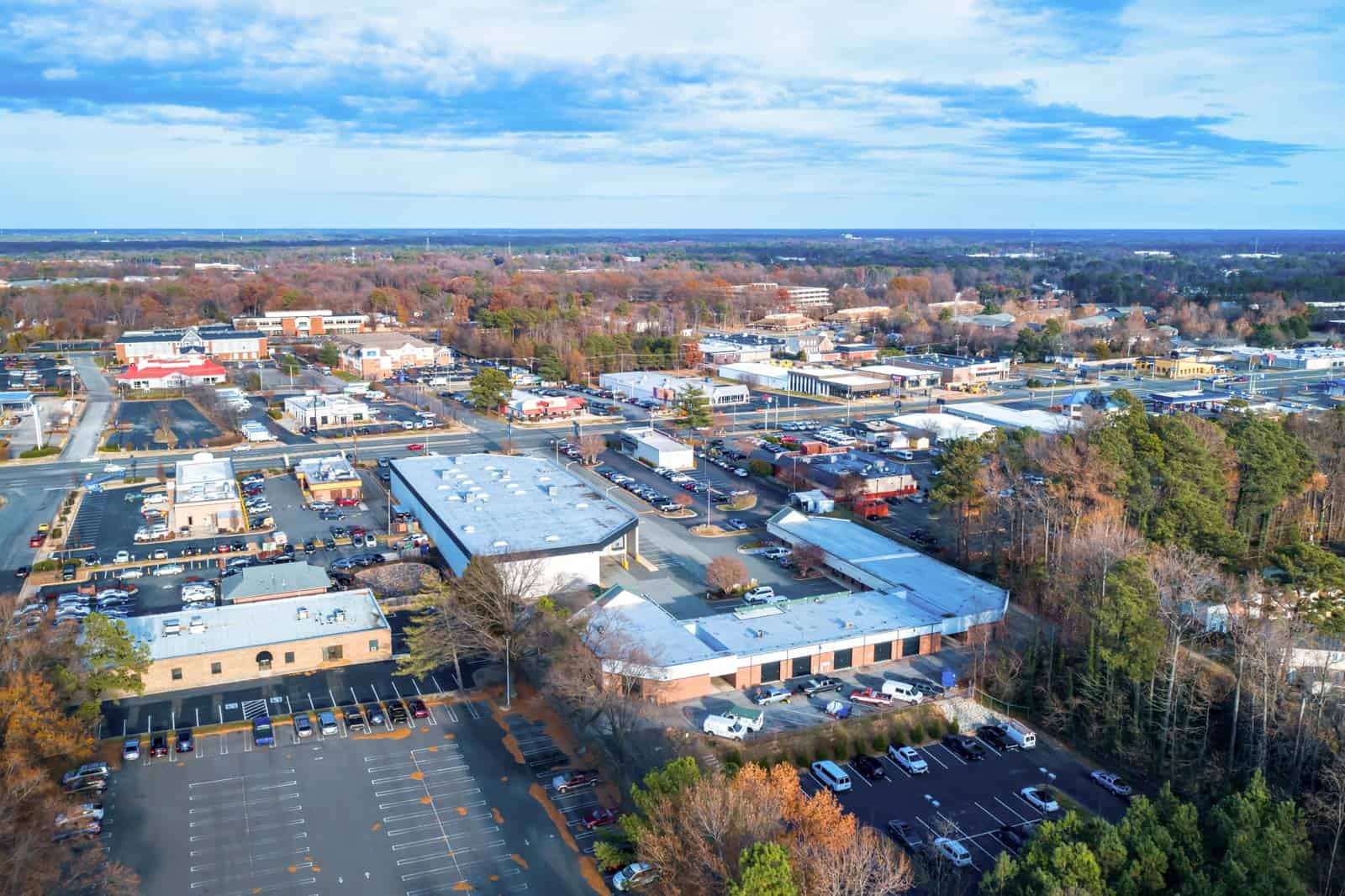 aerial overview photo of commercial real estate property in Richmond, VA