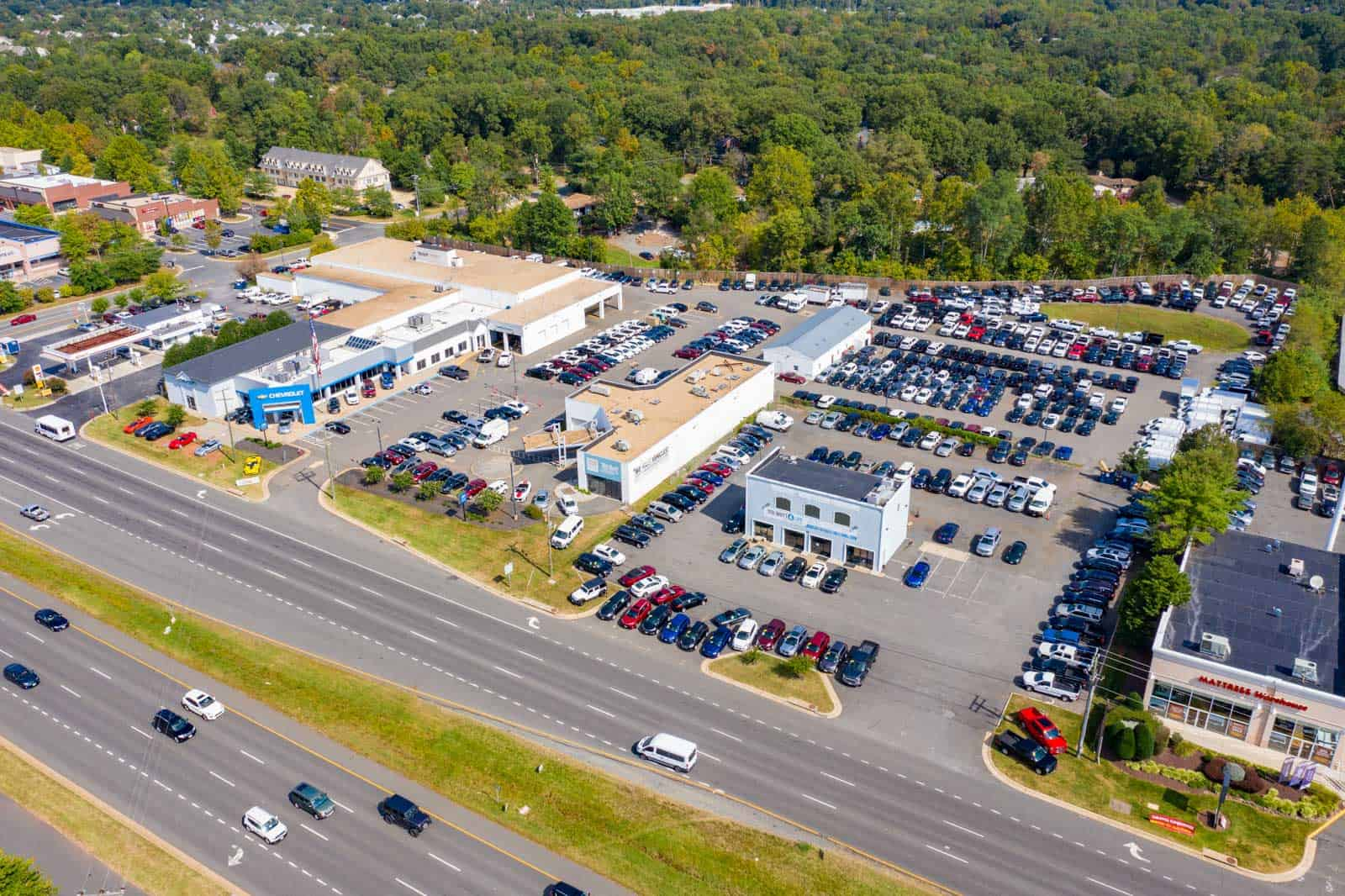 drone photo of Chevrolet dealership in Sterling, VA
