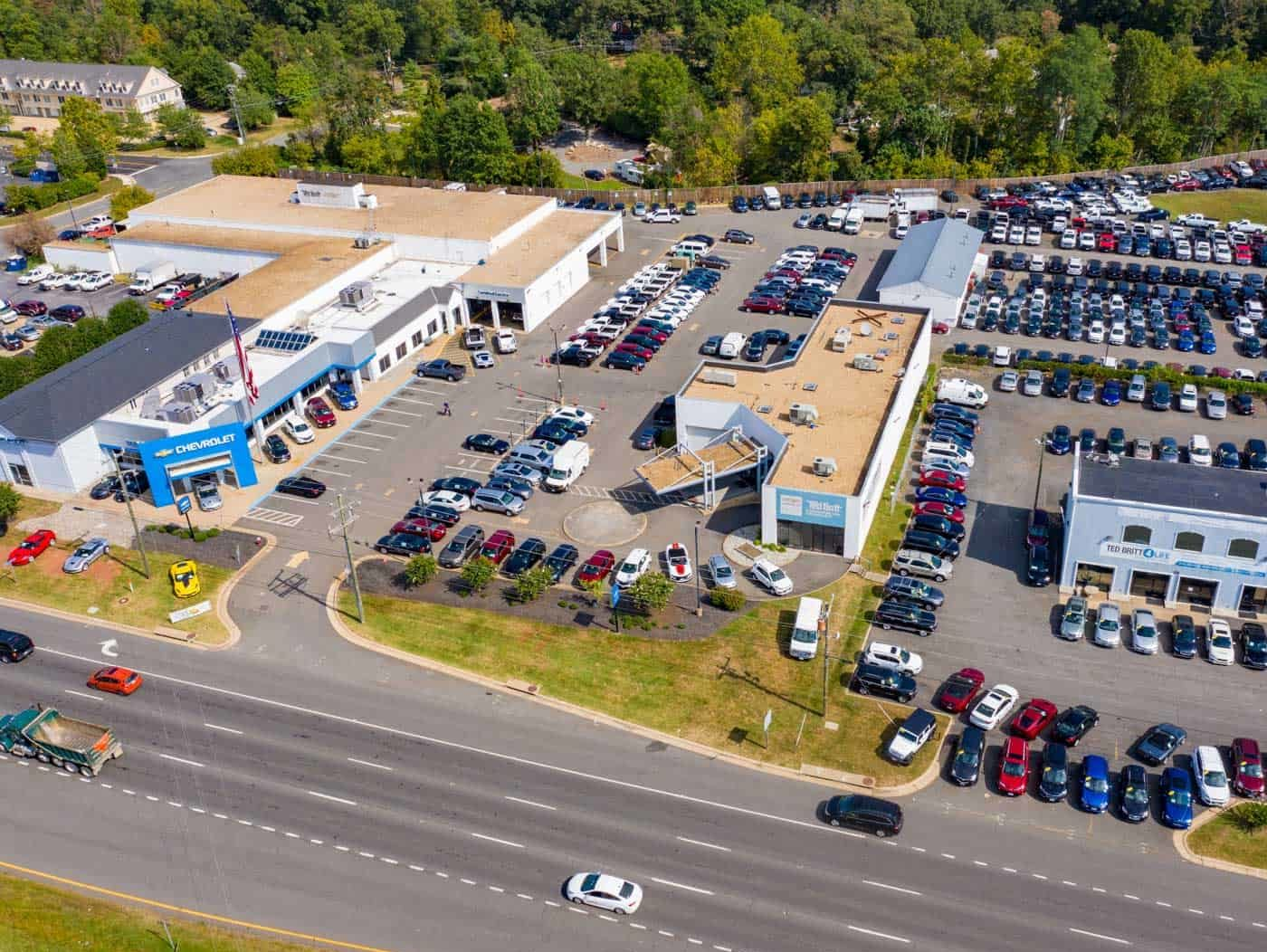 drone photo of car dealership in Sterling, VA